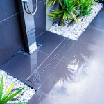 WETT Solutions Urban Series Tile Insert pool area channel drains. Manufactured in Australia.